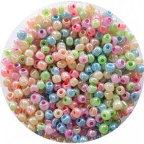 Margele nisip 4mm amestec perlat