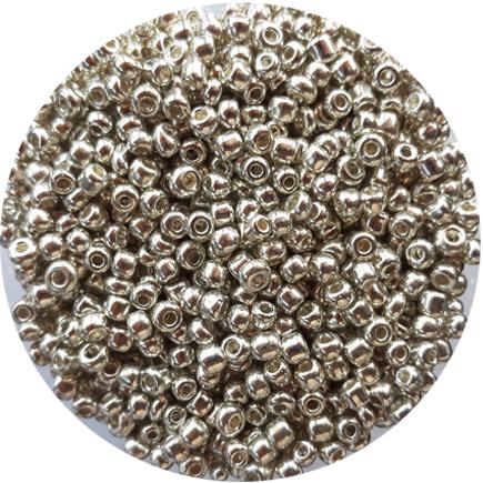 Margele nisip 4mm argintiu metalizat