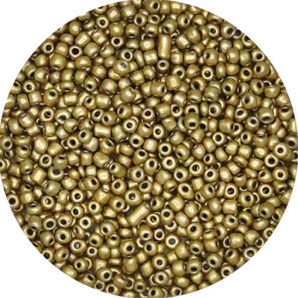 Margele nisip 4mm auriu satinat