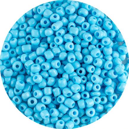 Margele nisip 4mm bleu azur opac
