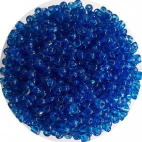 Margele nisip 4mm bleu azur transparent