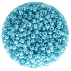 Margele nisip 4mm bleu perlat