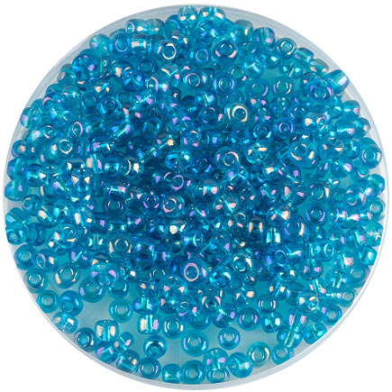 Margele nisip 4mm bleu transparent cu efect AB