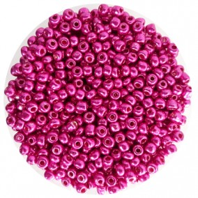 Margele nisip 4mm fucsia metalizat