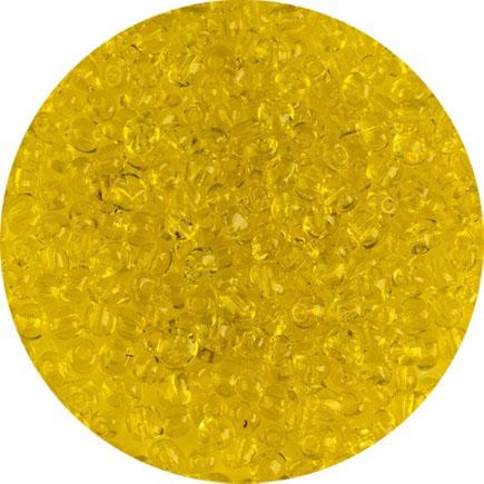 Margele nisip 4mm galben transparent