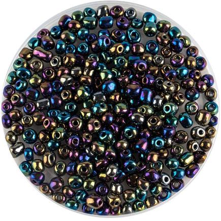 Margele nisip 4mm gri metalizat irizat