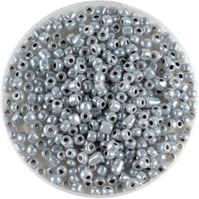 Margele nisip 4mm gri perlat