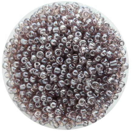Margele nisip 4mm gri transparent perlat