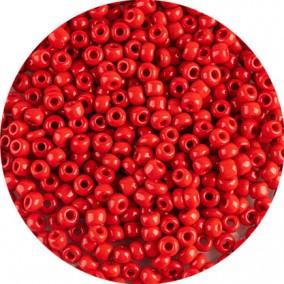 Margele nisip 4mm rosu oranj opac