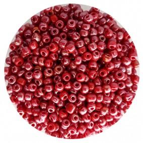 Margele nisip 4mm rosu putred perlat