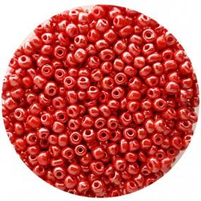 Margele nisip 4mm rosu somon perlat