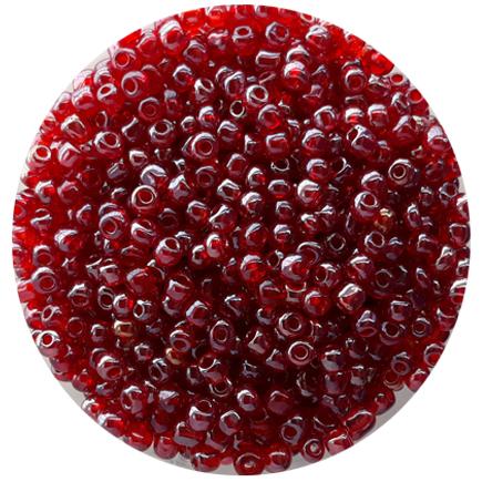 Margele nisip 4mm rosu transparent perlat
