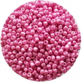 Margele nisip 4mm roz fondant perlat
