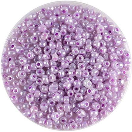 Margele nisip 4mm roz liliac perlat