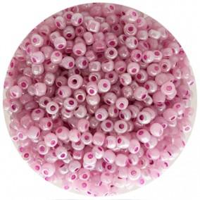 Margele nisip 4mm roz orhidee perlat