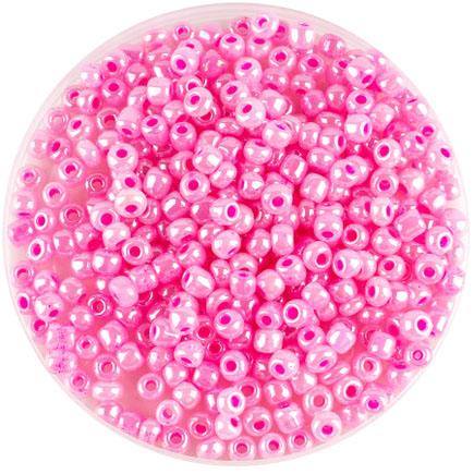 Margele nisip 4mm roz perlat