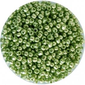 Margele nisip 4mm verde crud metalizat
