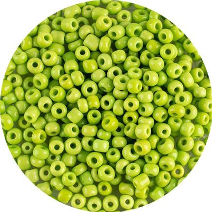 Margele nisip 4mm verde crud opac
