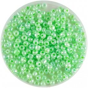 Margele nisip 4mm verde crud perlat
