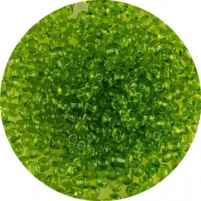 Margele nisip 4mm verde crud transparent