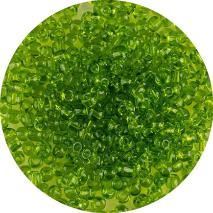 Margele nisip 4mm verde crud transparent