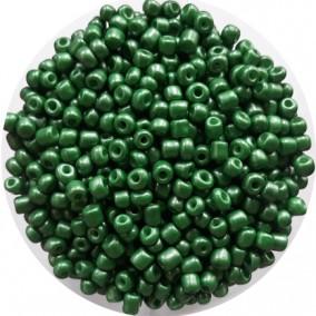Margele nisip 4mm verde fistic perlat