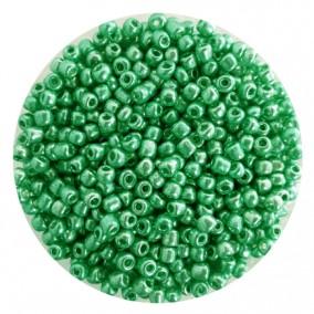 Margele nisip 4mm verde iarba metalizat