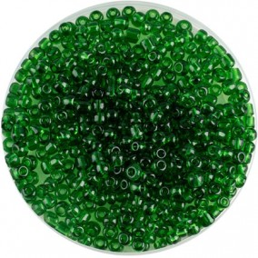 Margele nisip 4mm verde iarba transparent