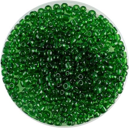 Margele nisip 4mm verde iarba transparent