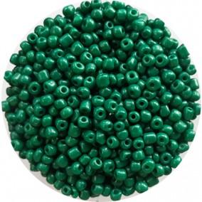 Margele nisip 4mm verde imperial opac