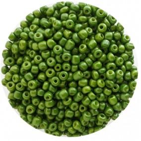 Margele nisip 4mm verde oliv opac