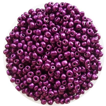 Margele nisip 4mm violet satinat