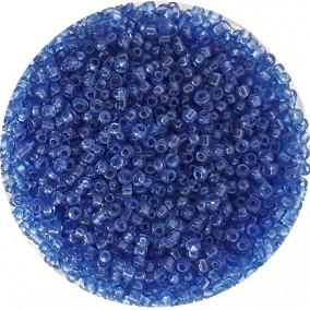 Margele nisip 2mm albastru cenusiu transparent