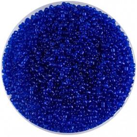 Margele nisip 2mm albastru cerneala transparent