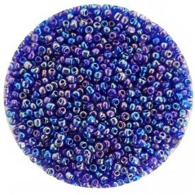 Margele nisip 2mm albastru metalizat irizat