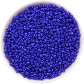 Margele nisip 2mm albastru opac