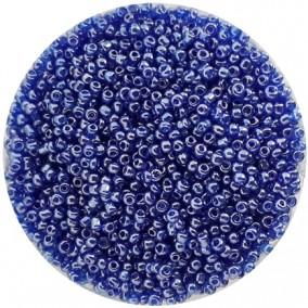 Margele nisip 2mm albastru transparent perlat