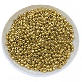 Margele nisip 2mm auriu satinat