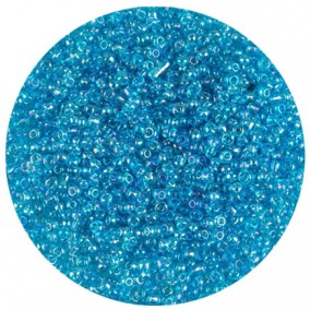 Margele nisip 2mm bleu transparent