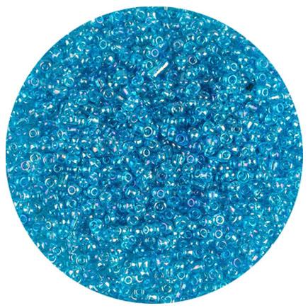 Margele nisip 2mm bleu transparent