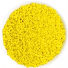 Margele nisip 2mm galben opac