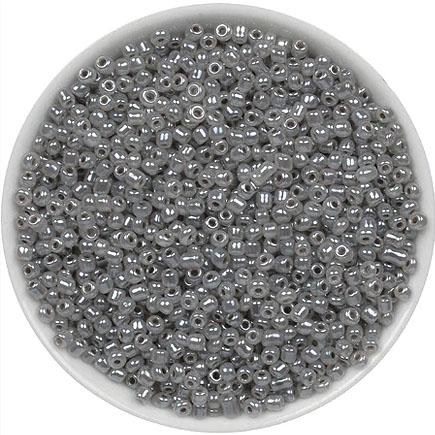 Margele nisip 2mm gri perlat