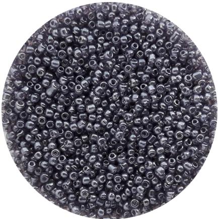 Margele nisip 2mm gri transparent perlat