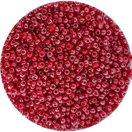 Margele nisip 2mm rosu somon perlat