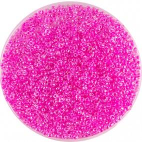 Margele nisip 2mm roz fucsia perlat