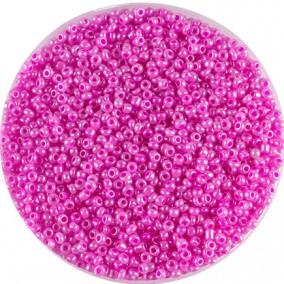Margele nisip 2mm roz violet perlat