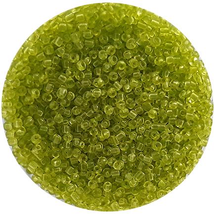 Margele nisip 2mm verde crud transparent