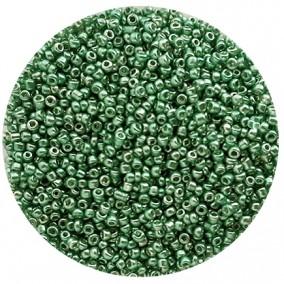 Margele nisip 2mm verde iarba metalizat
