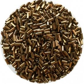 Margele nisip tubulare 5mm bronz metalizat