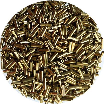 Margele nisip tubulare 7mm bronz metalizat